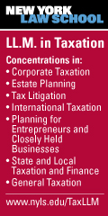 NYLS LL.M. in Taxation