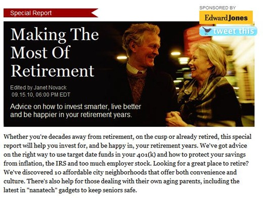 Forbes - Special Report - Retirement - 2010-09-16